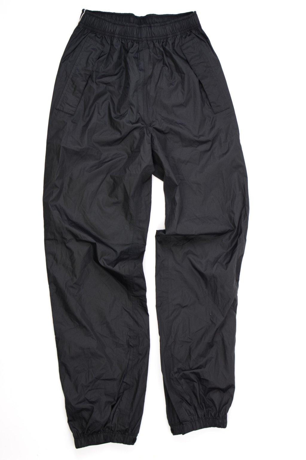 Kalhoty do deště vel S 36/38 černé s reflex prvky @1