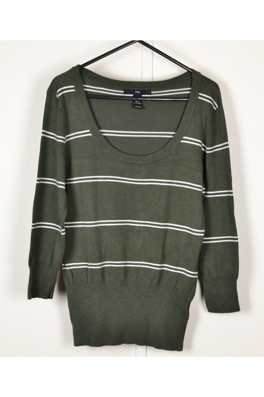 Svetr H&M vel S/38 zelený - khaki