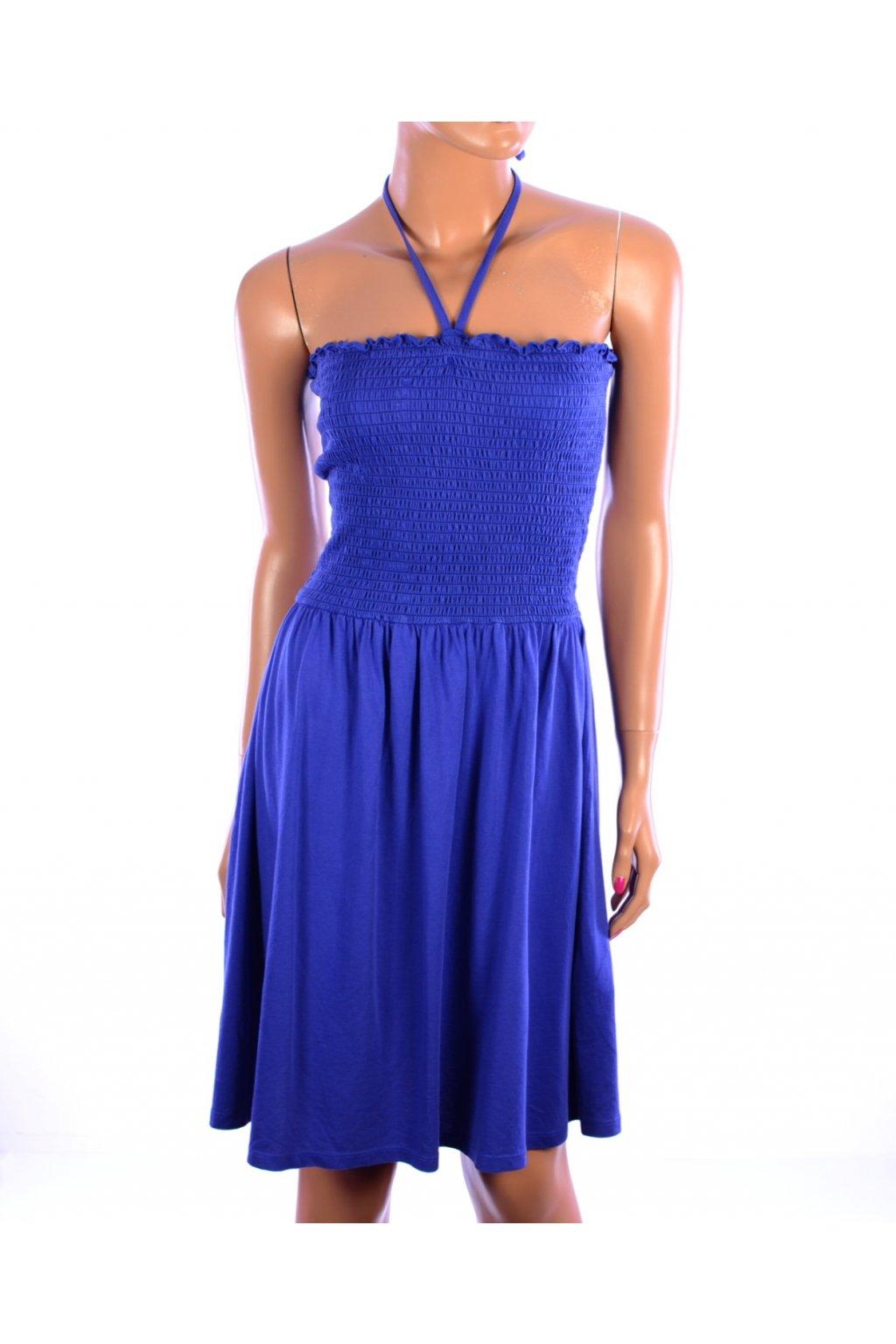 Šaty letní C&A vel S - 36/38  modré holá ramena