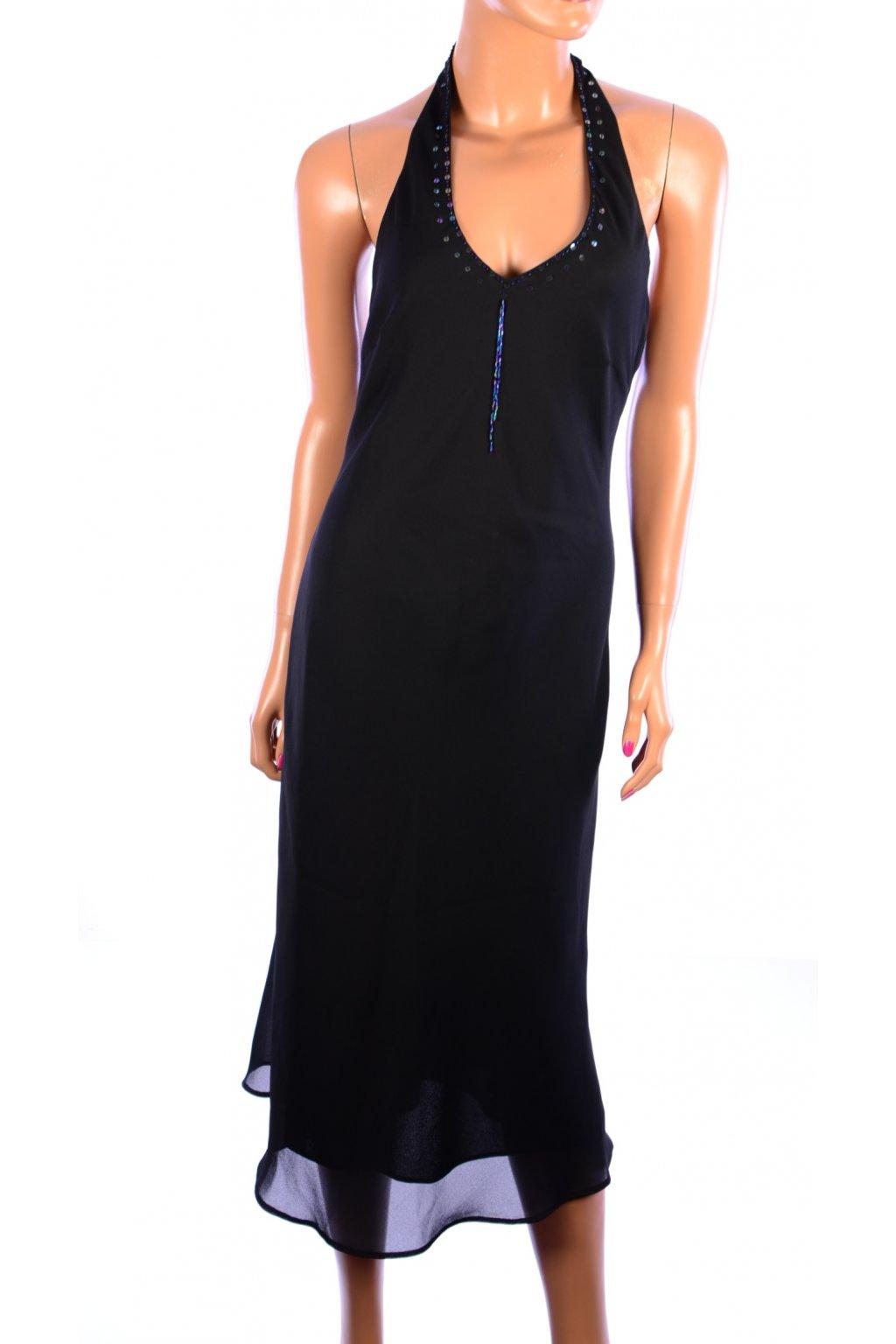 Šaty C&A dlouhé černé vel. 38 / S