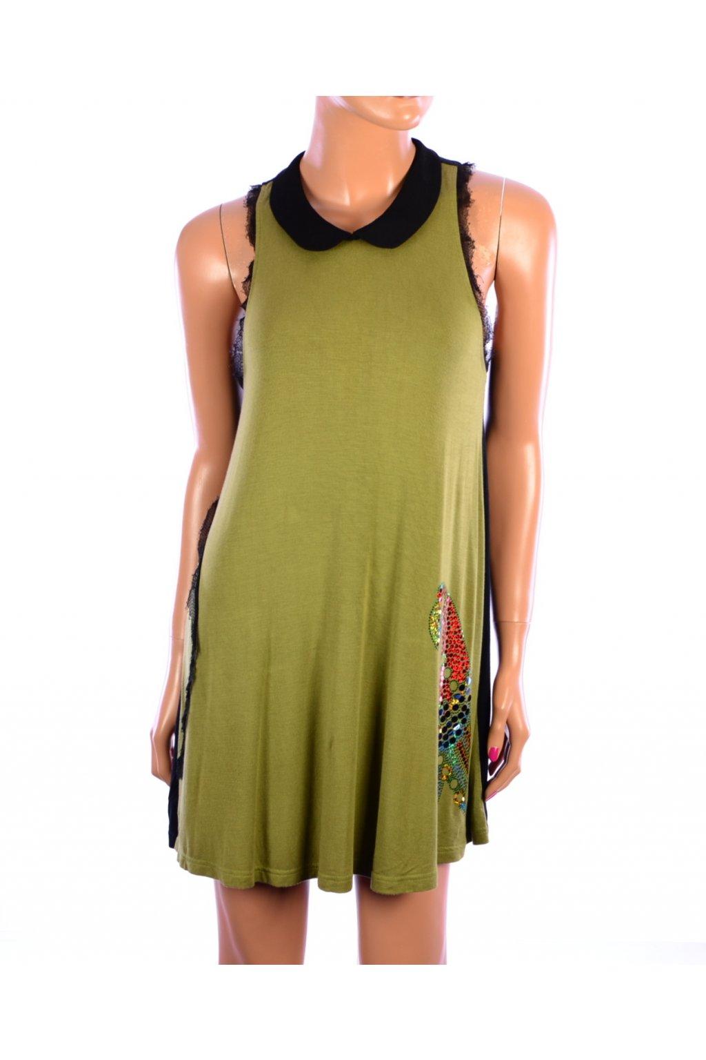 Šaty Manimma zelené s papouškem vel. S @
