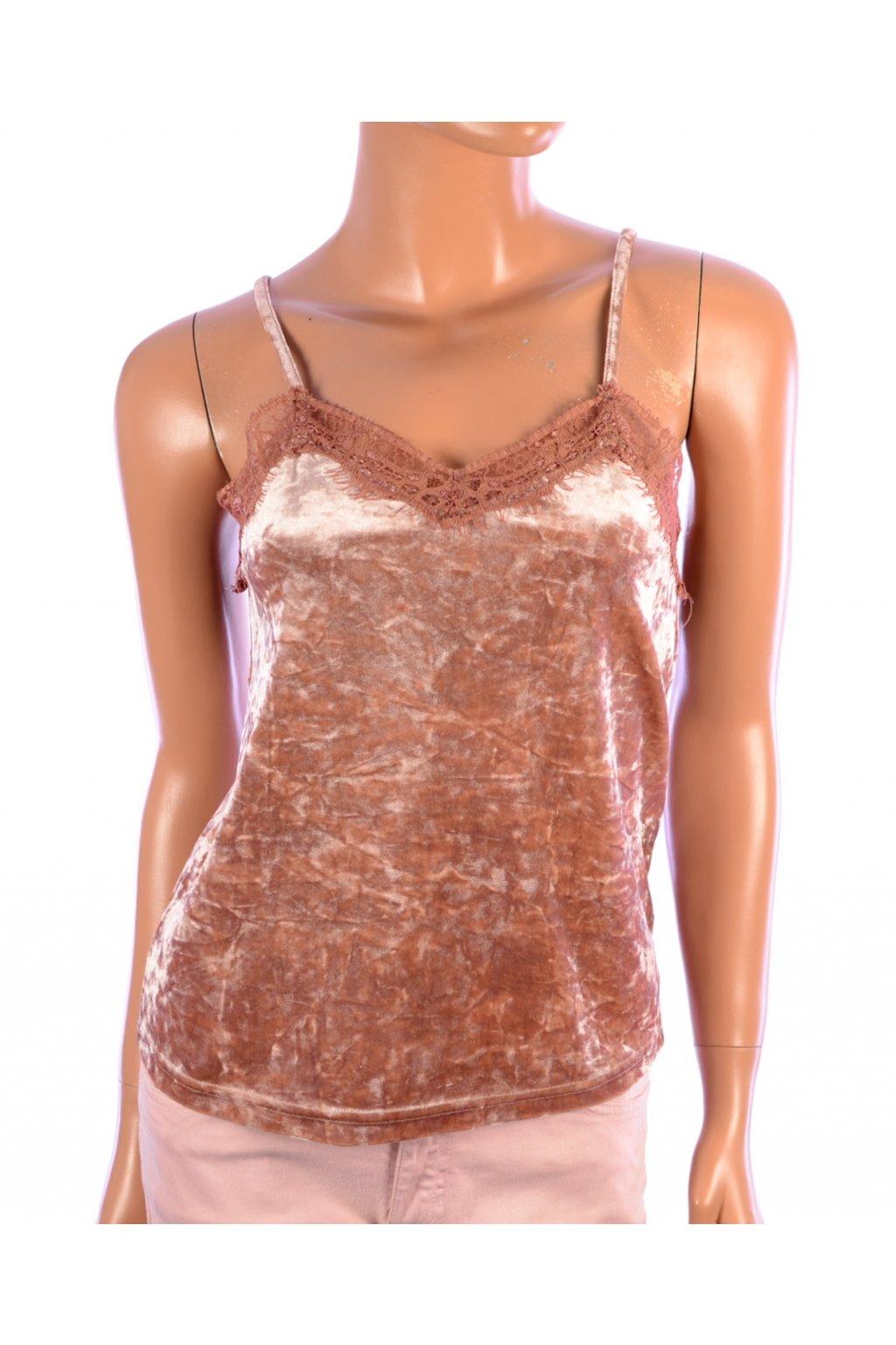 Tričko top sametový Jacqueline de Yong vel. XS