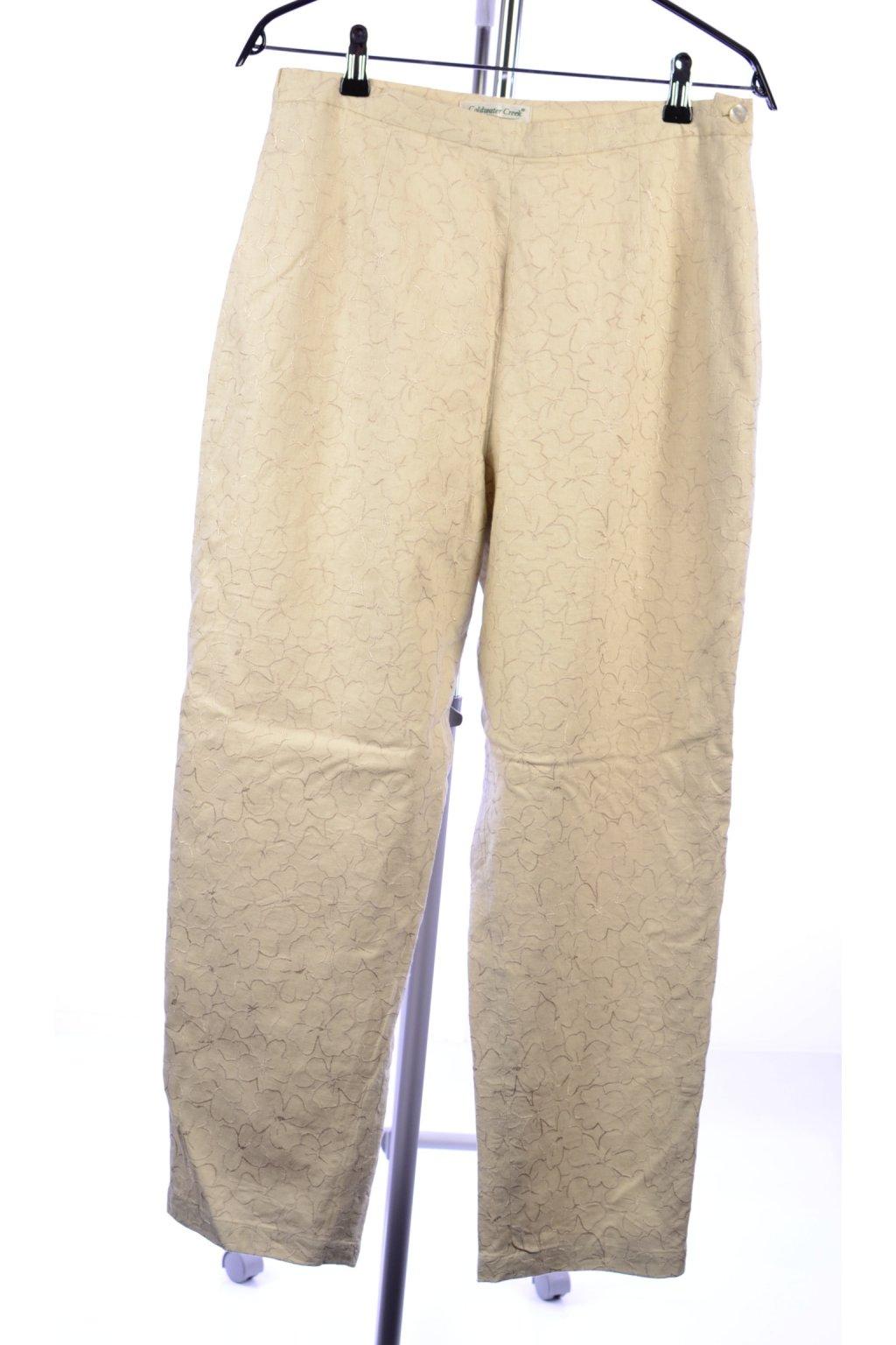 Kalhoty s podšívkou Coldwater Creek vel 42/M béžové