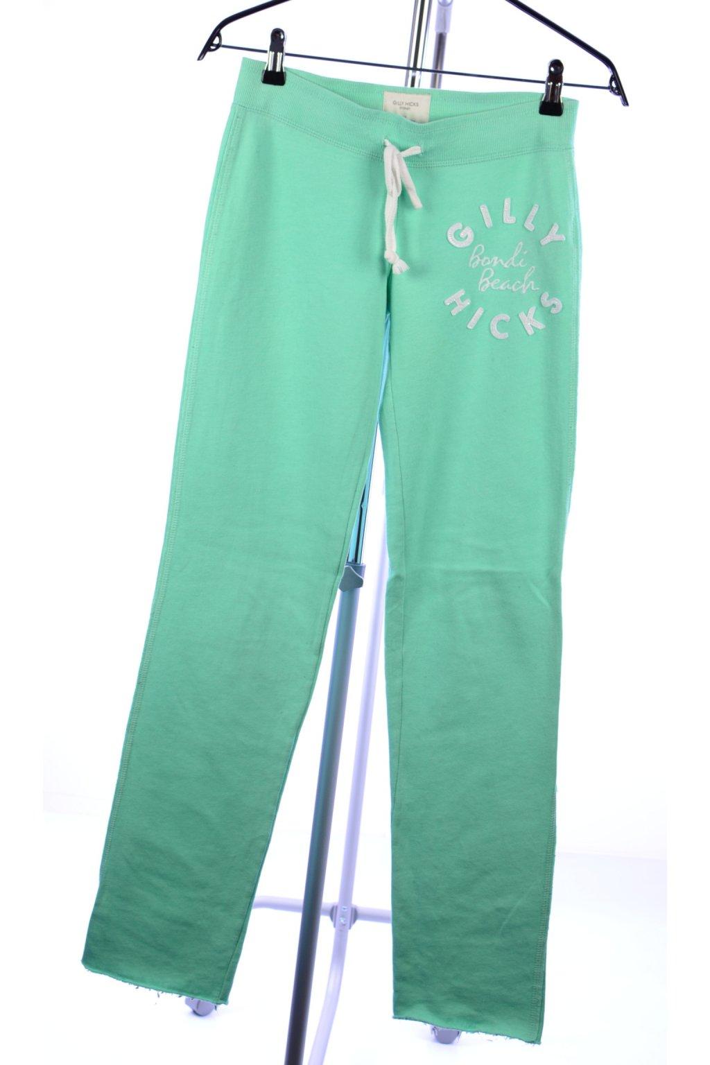 Tepláky Abercrombie & fitch vel XS zelená mint