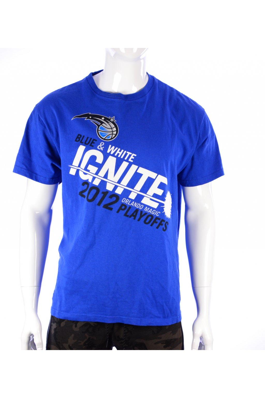 Tričko Delta Pro Weight vel XL modré s nápisy
