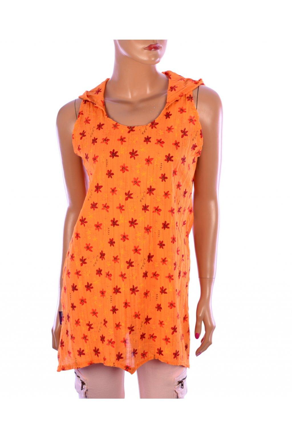 Halenka Koni design oranžová s kapucí vel. S - M