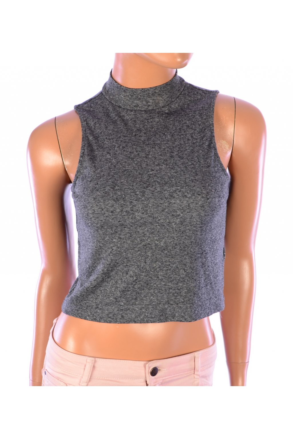 Tričko crop top šedé H&M vel. M