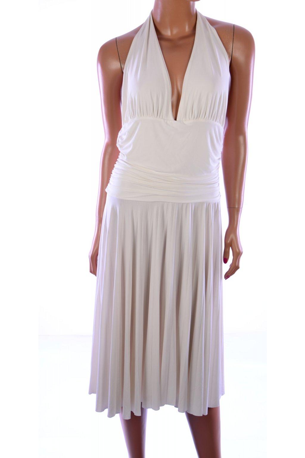 Šaty bílé vel. L - XL