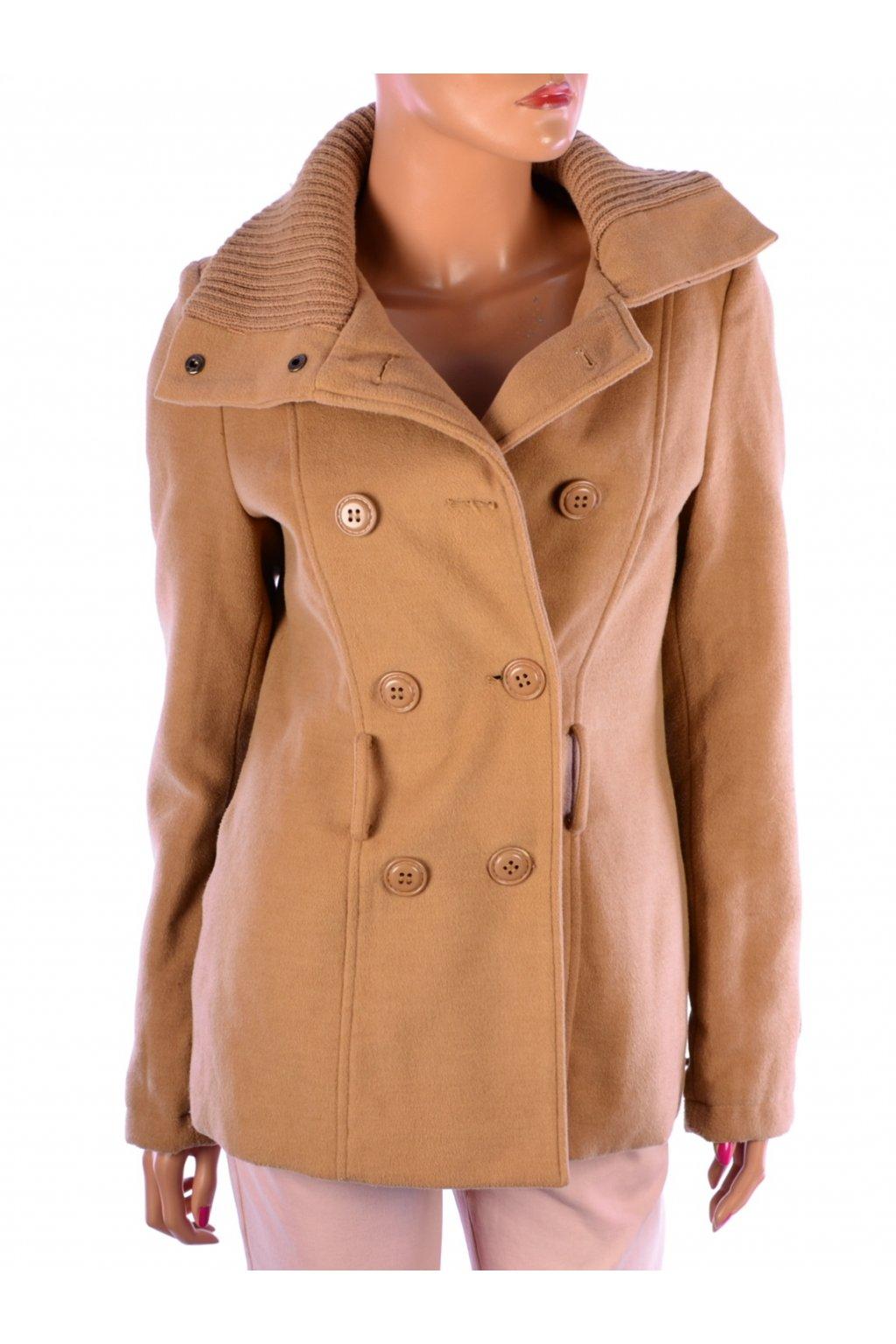 Bunda kabát béžová podzim zima Amisu vel. 36 / S