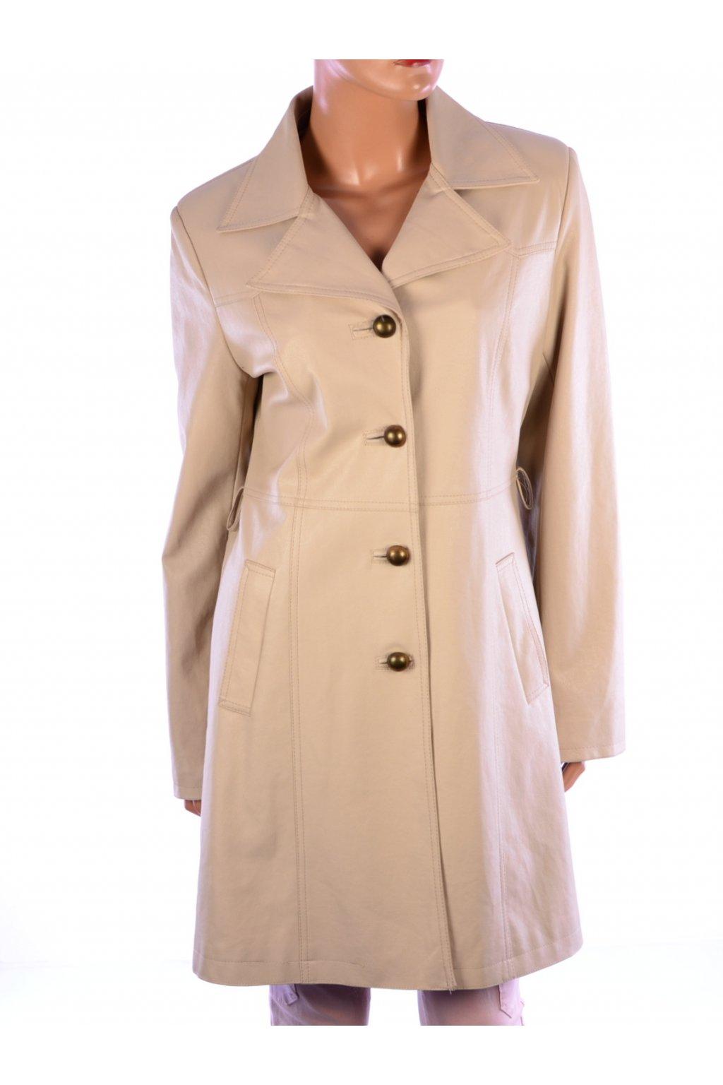 Kabát ze syntetické kůže béžový Relis vel. 38 / S - M