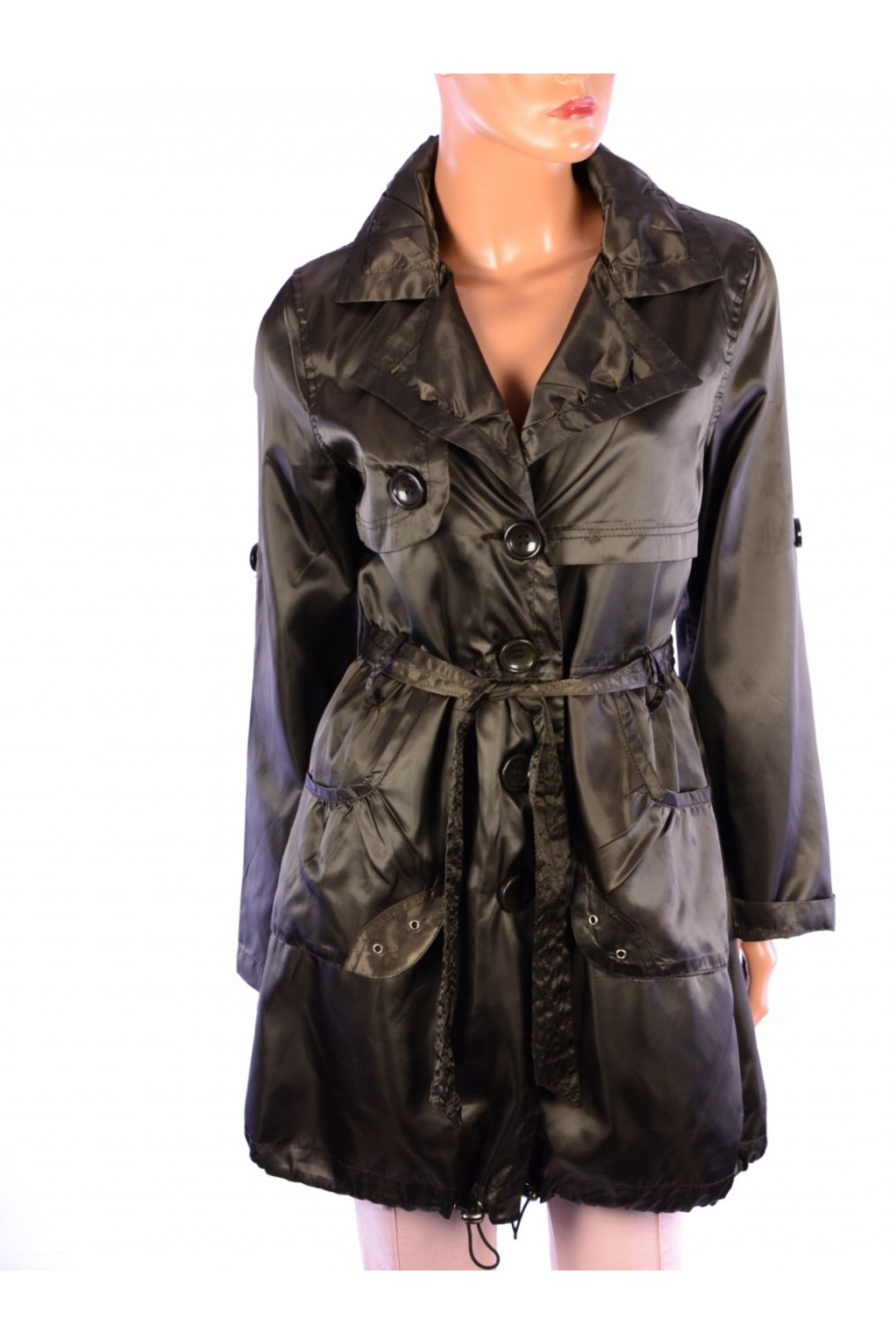 Kabát přechodní hnědý Softy Collection vel. M