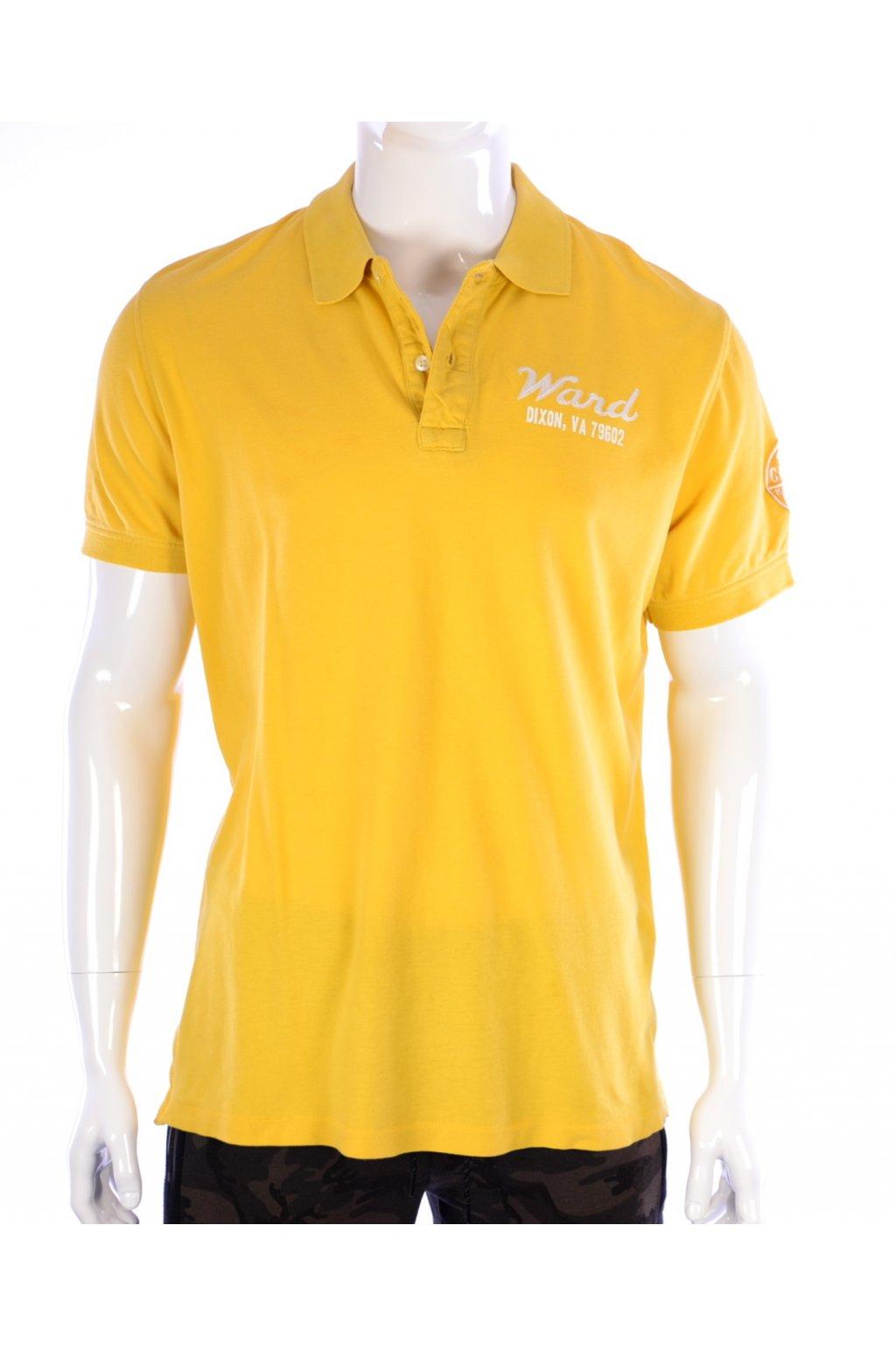 Tričko s límečkem žluté H&M vel. L