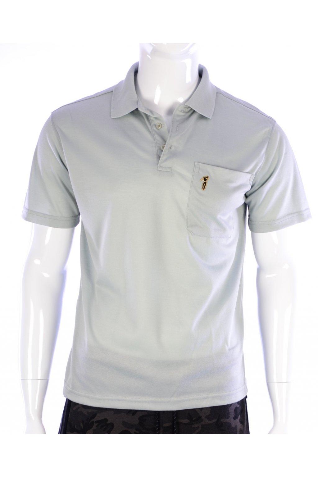 Tričko šedé s límečkem Just Pong vel. M