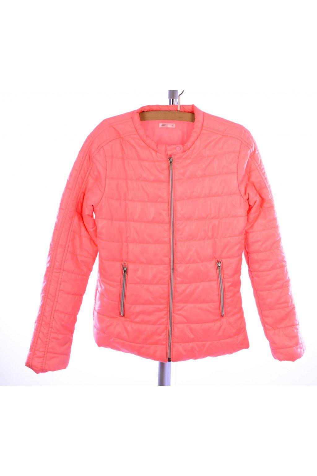 Bunda podzim zima Pepco vel 158 světle oranžová @