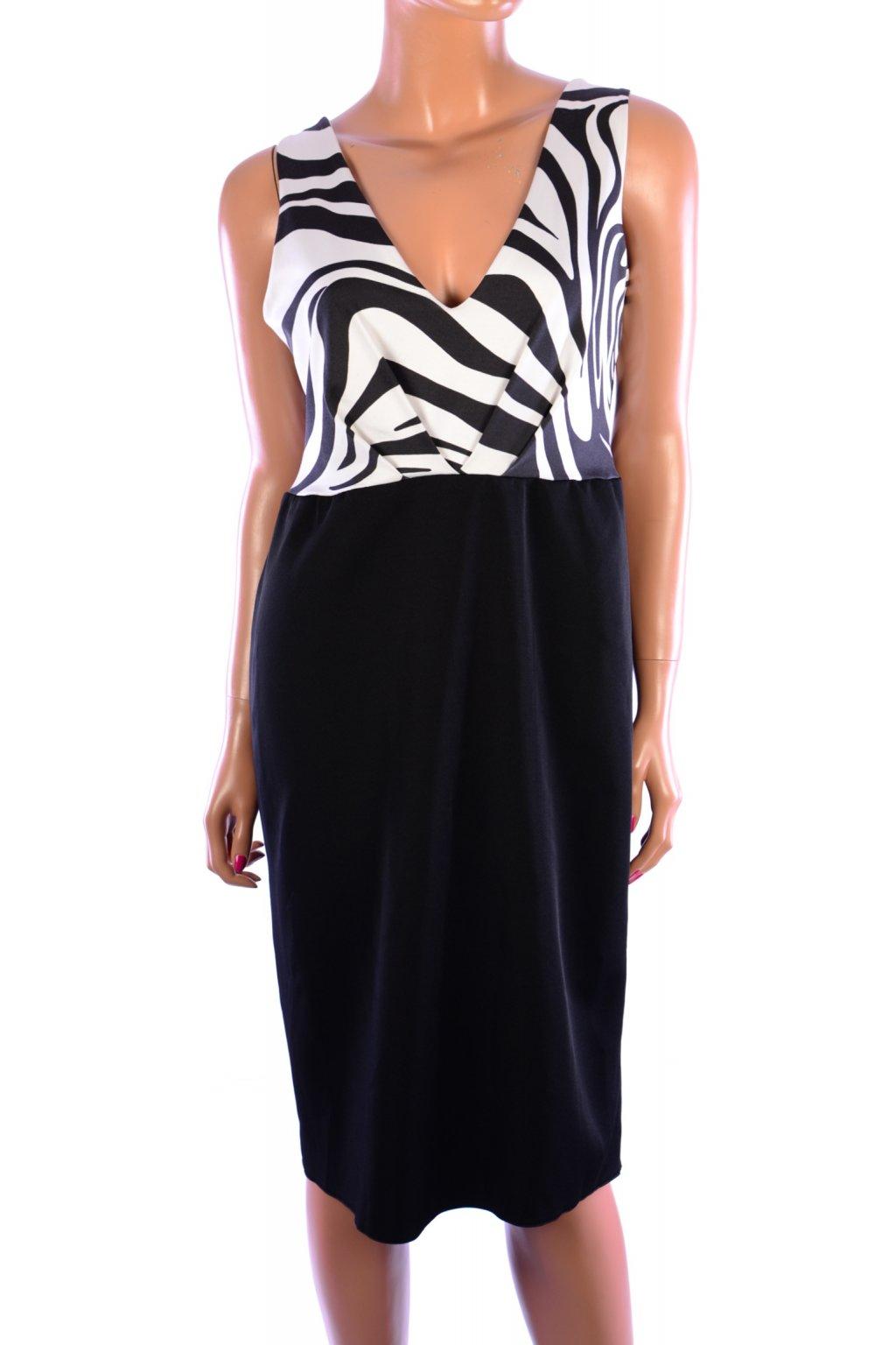 Šaty Jane norman černo bílé vel. M