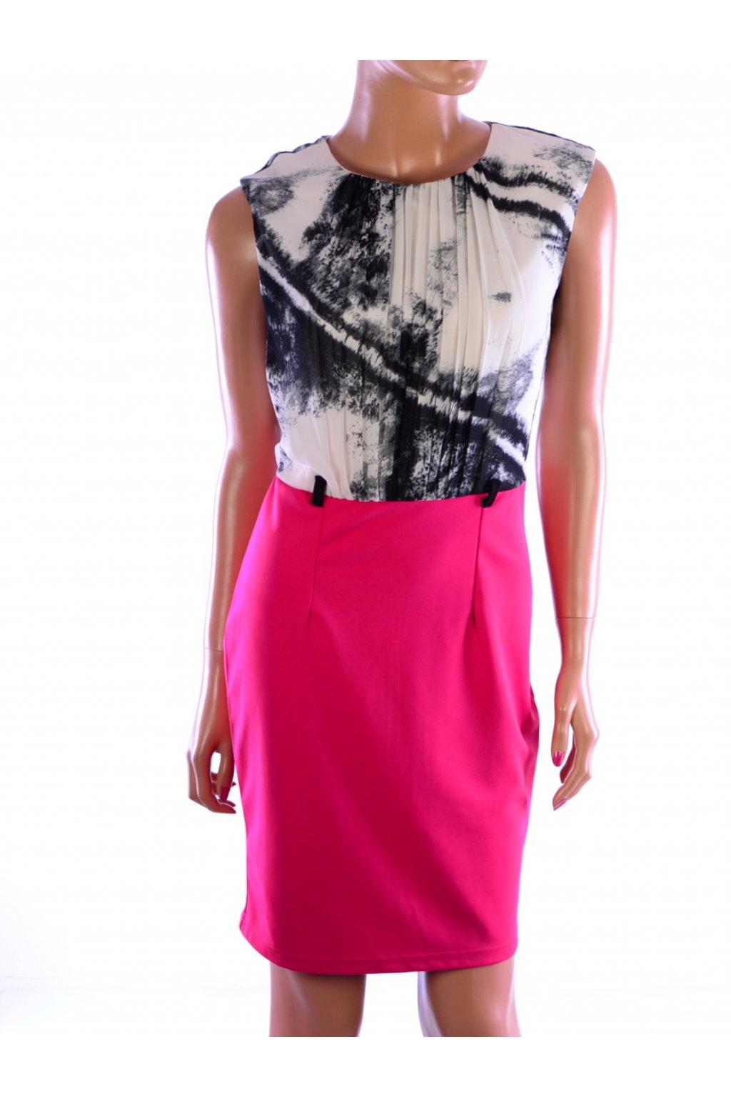 Šaty růžové vzorované Little Mistress vel. 38 / uk 10