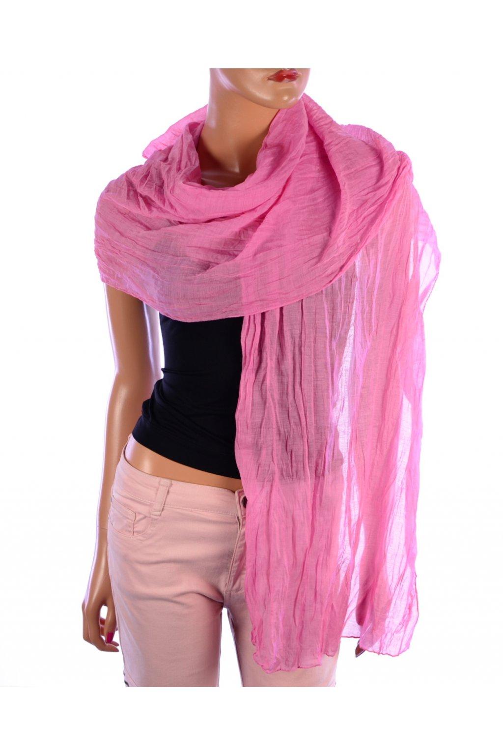 Šátek růžový