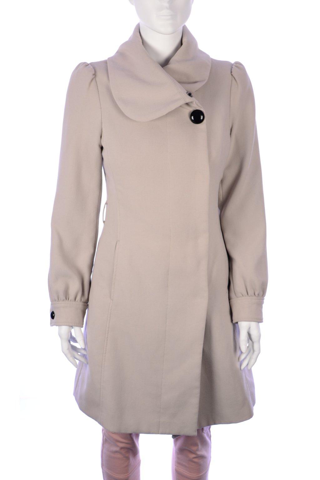 kabát světle šedý přechodní H&M vel. 36 / S