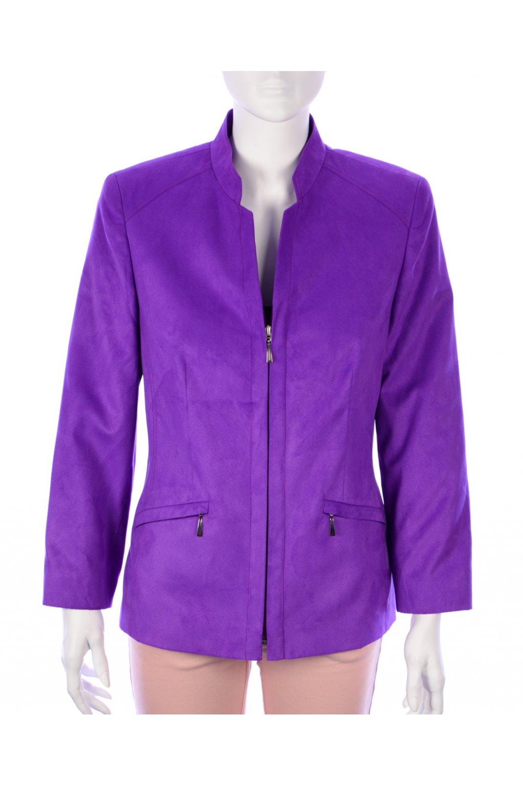 Kabátek bunda lehký fialový vel. 38 / uk 12 /  M