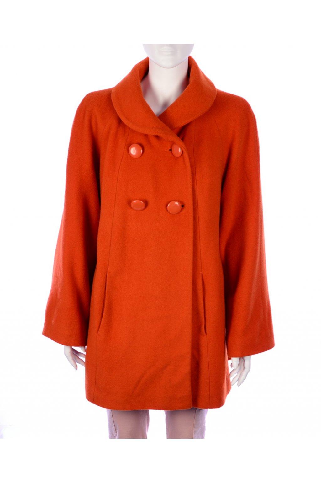 Kabát TU oranžový podzim zima 60%vlna vel. M / uk 14