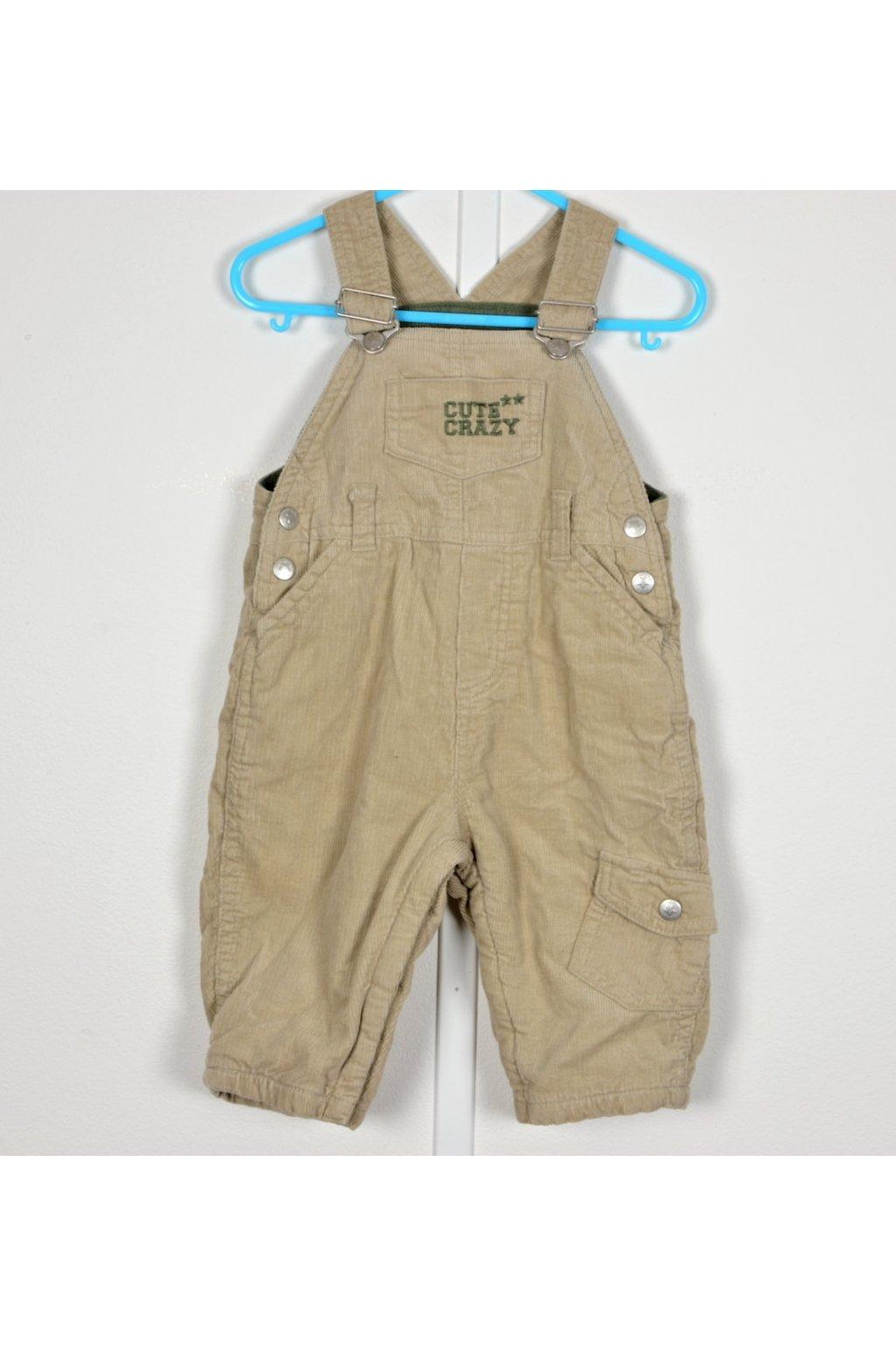 Kalhoty zahradníky zateplené C&A vel 74 béžové