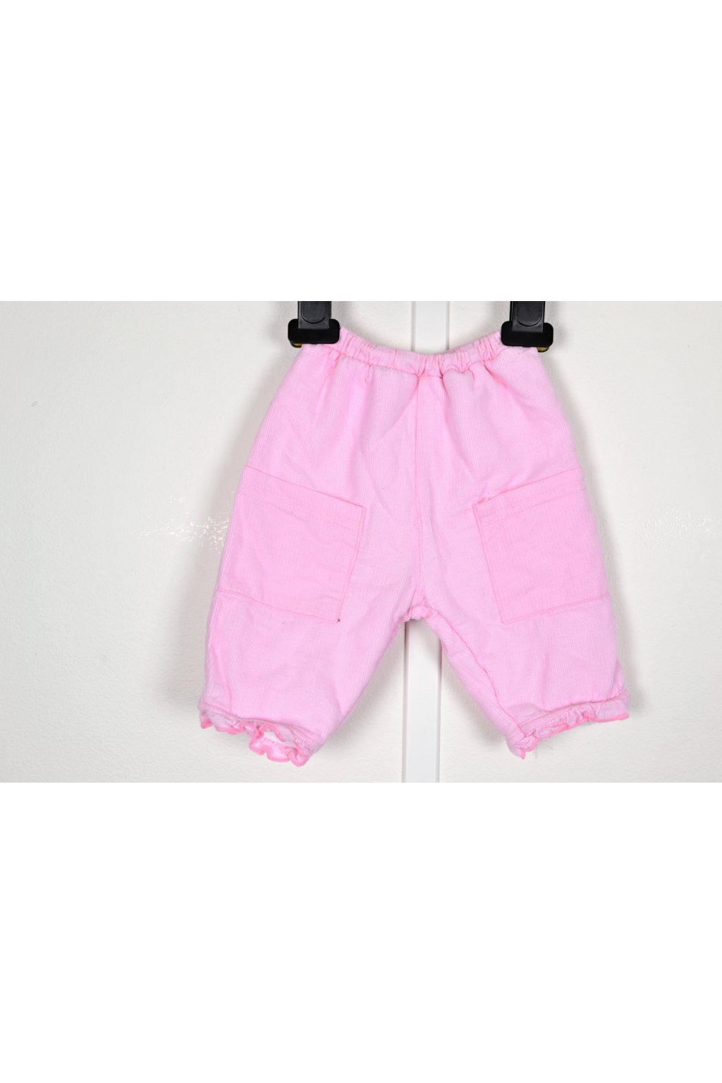 Kalhoty zateplené vel 50-56/0-3 měs růžové