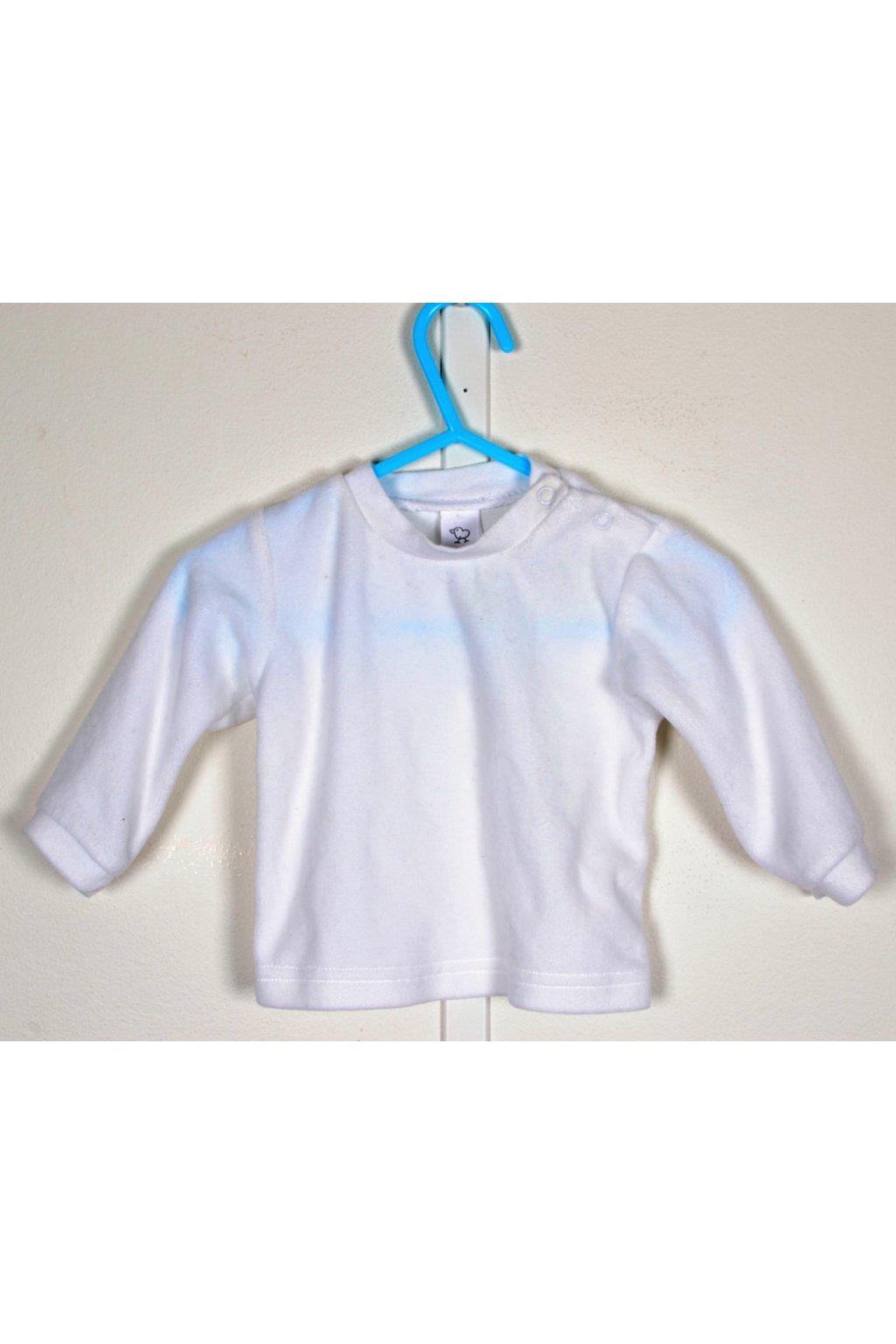 Tričko Baby Club C&A vel 68 bílé sametové