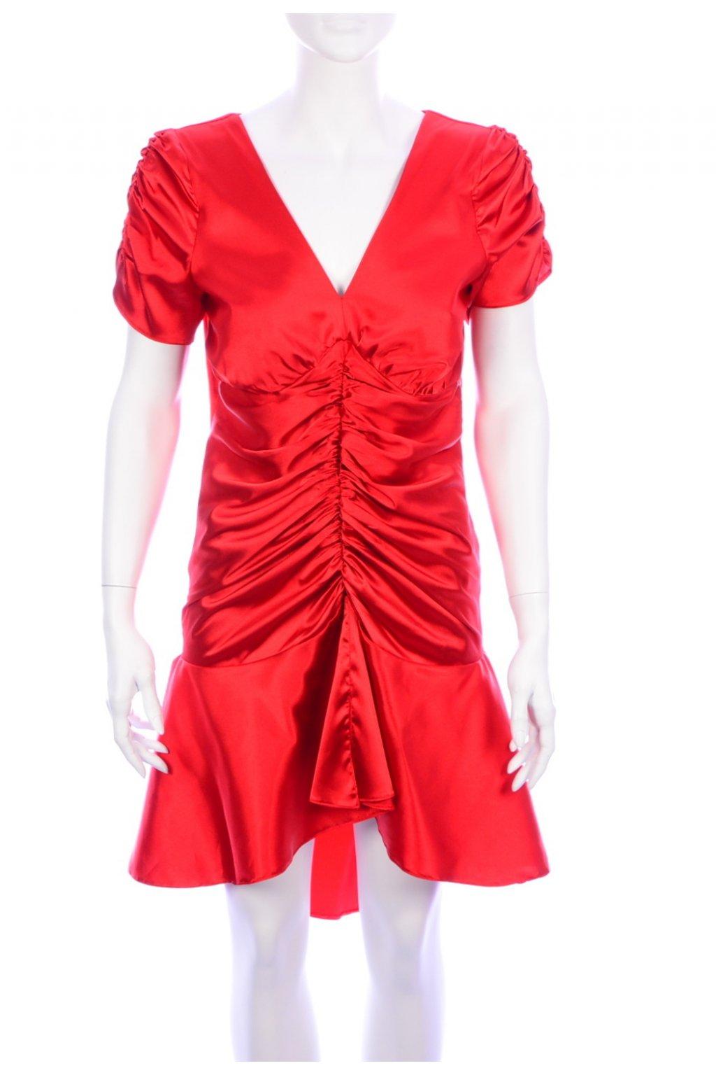 Šaty červené lesklé vel. S