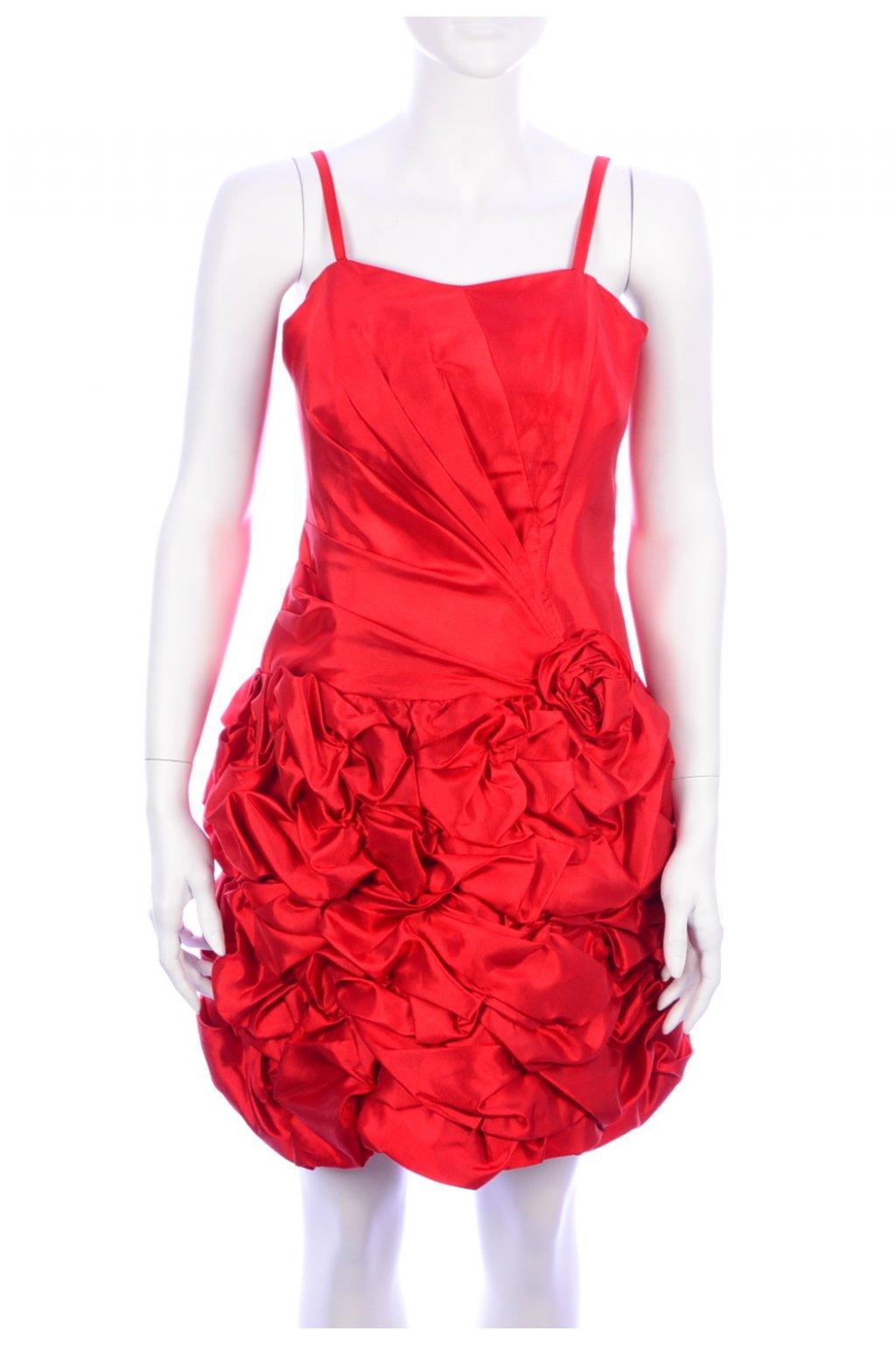 Šaty červené společenské SupremTop vel. XS - S