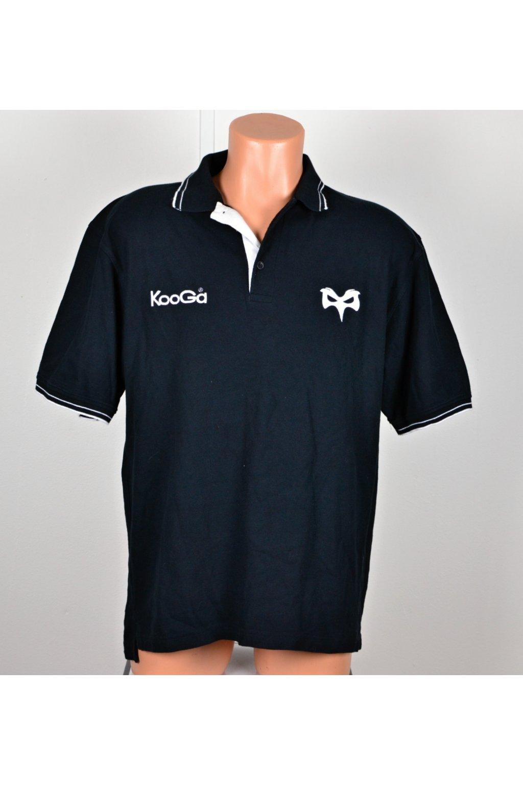 Polo tričko Kooga vel M černé s límečkem