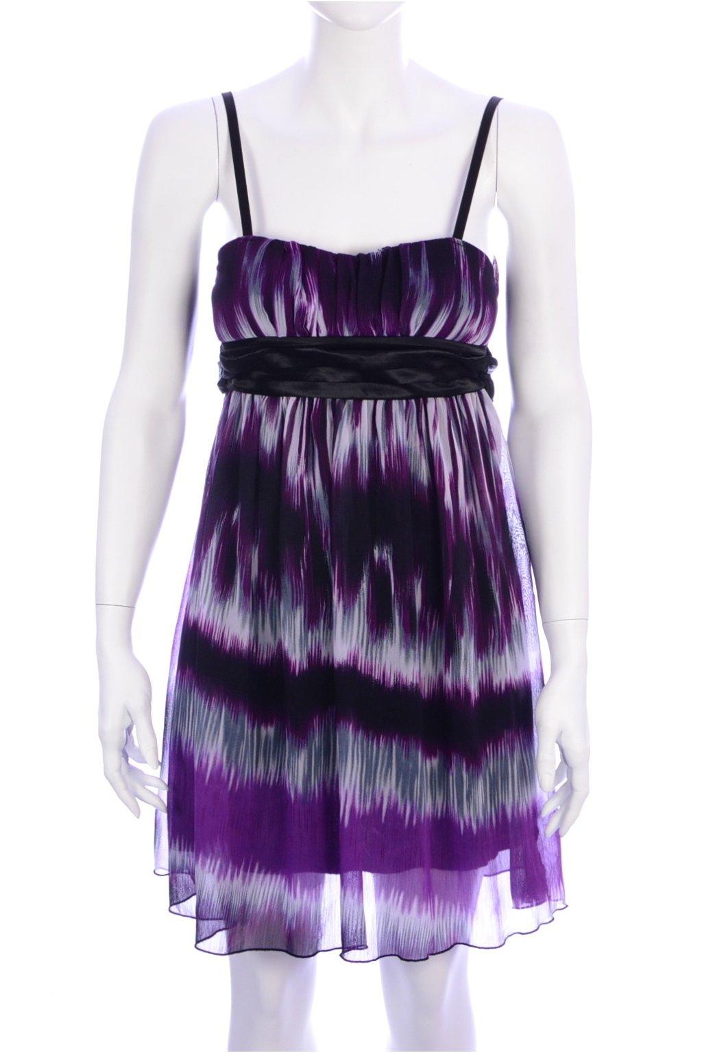 Šaty Jennifer Taylor vel 36/S fialovo-šedé