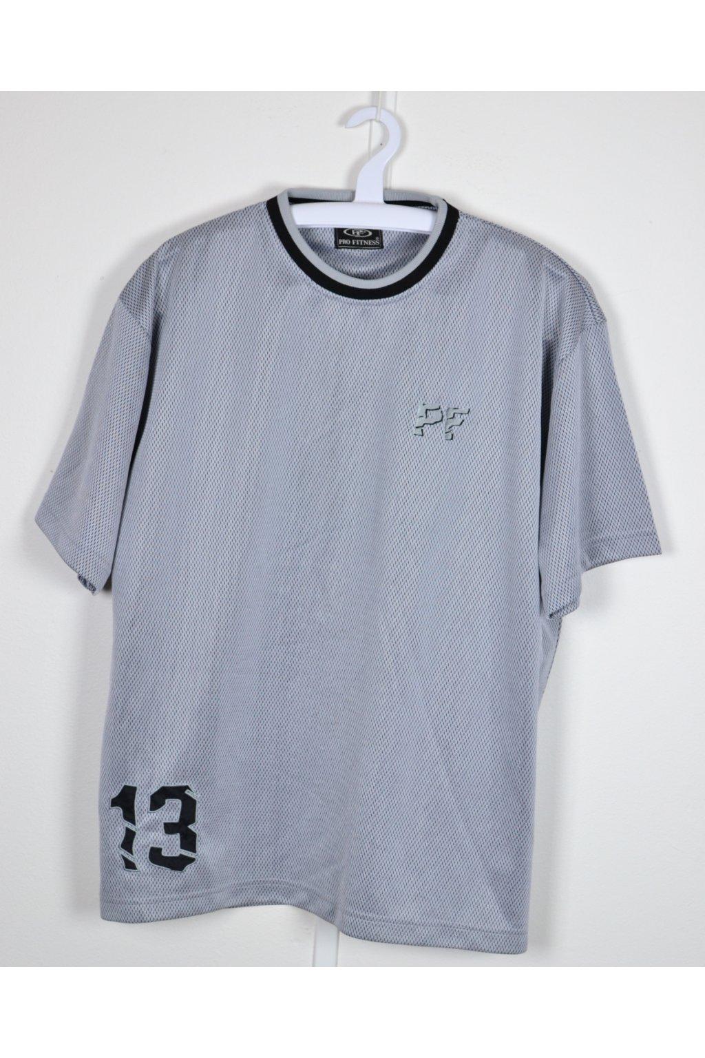 Tričko sportovní Pro fitness vel XL šedé