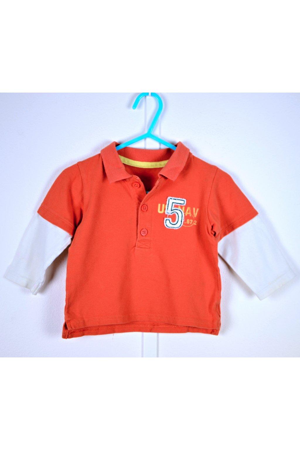 Tričko s límečkem George 6-9/74 červené