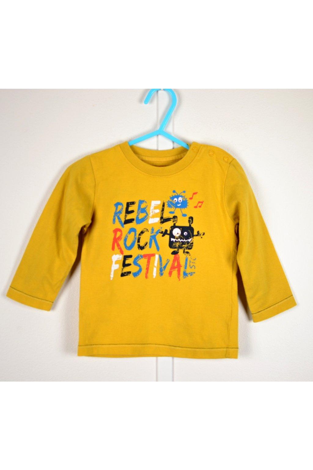 Tričko Staccato vel 74 žluté s obrázkem