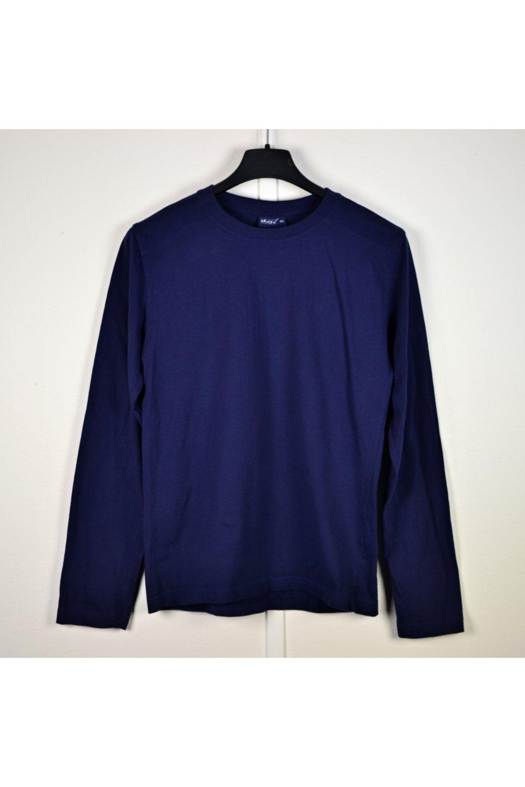 Tričko Okay vel 152 dlouhý rukáv modré