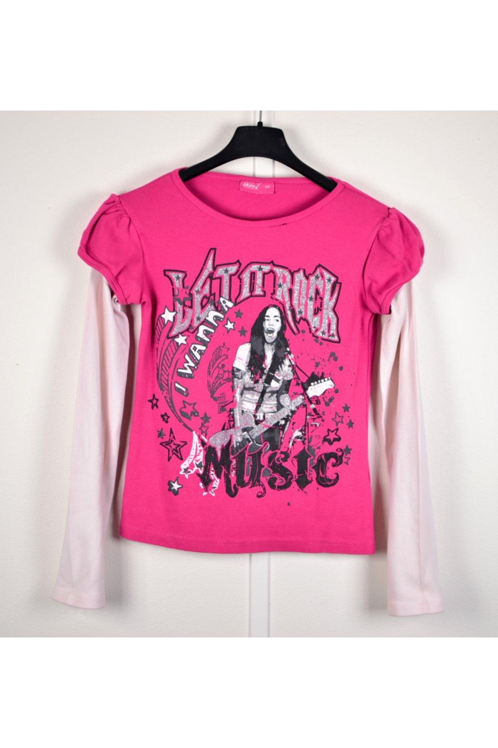 Tričko Okay vel 152 růžové