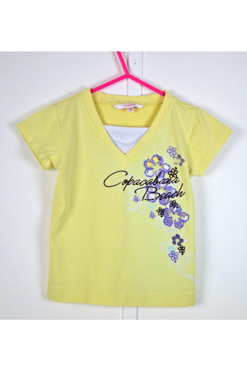 Tričko Lemmi vel 98 žluté