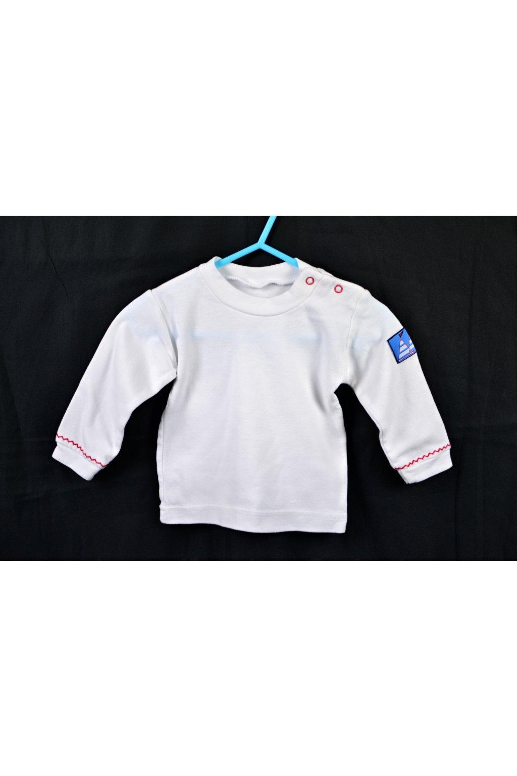 Tričko vel 68 bílé dlouhý rukáv