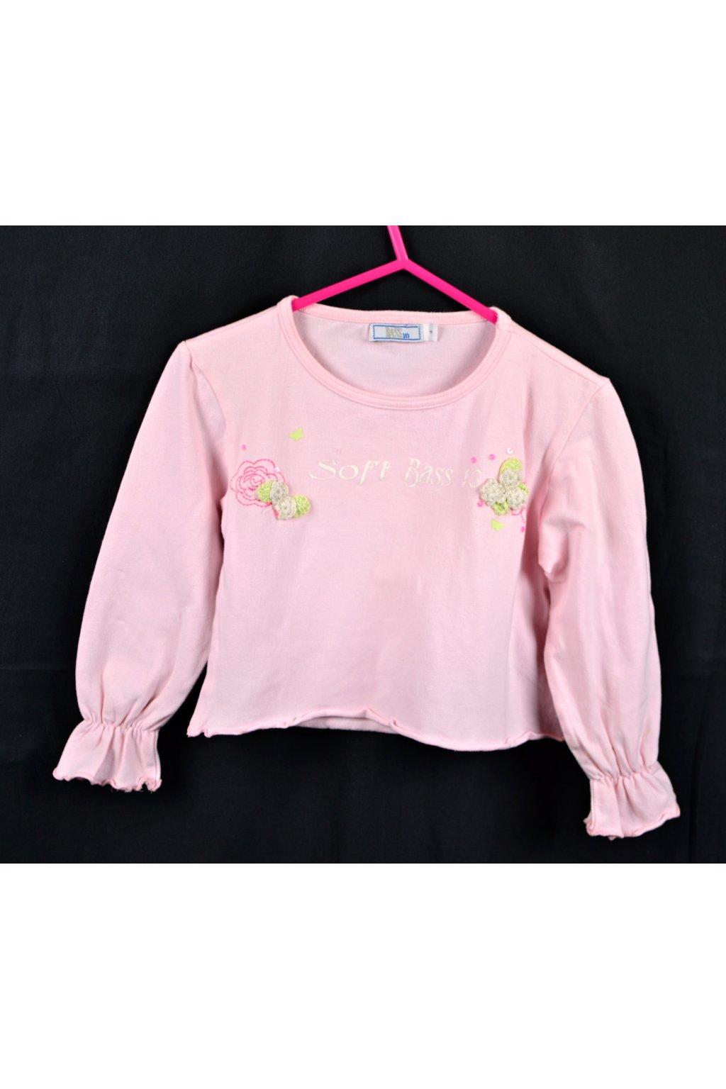 Tričko vel 3-4/104 růžové dlouhý rukáv