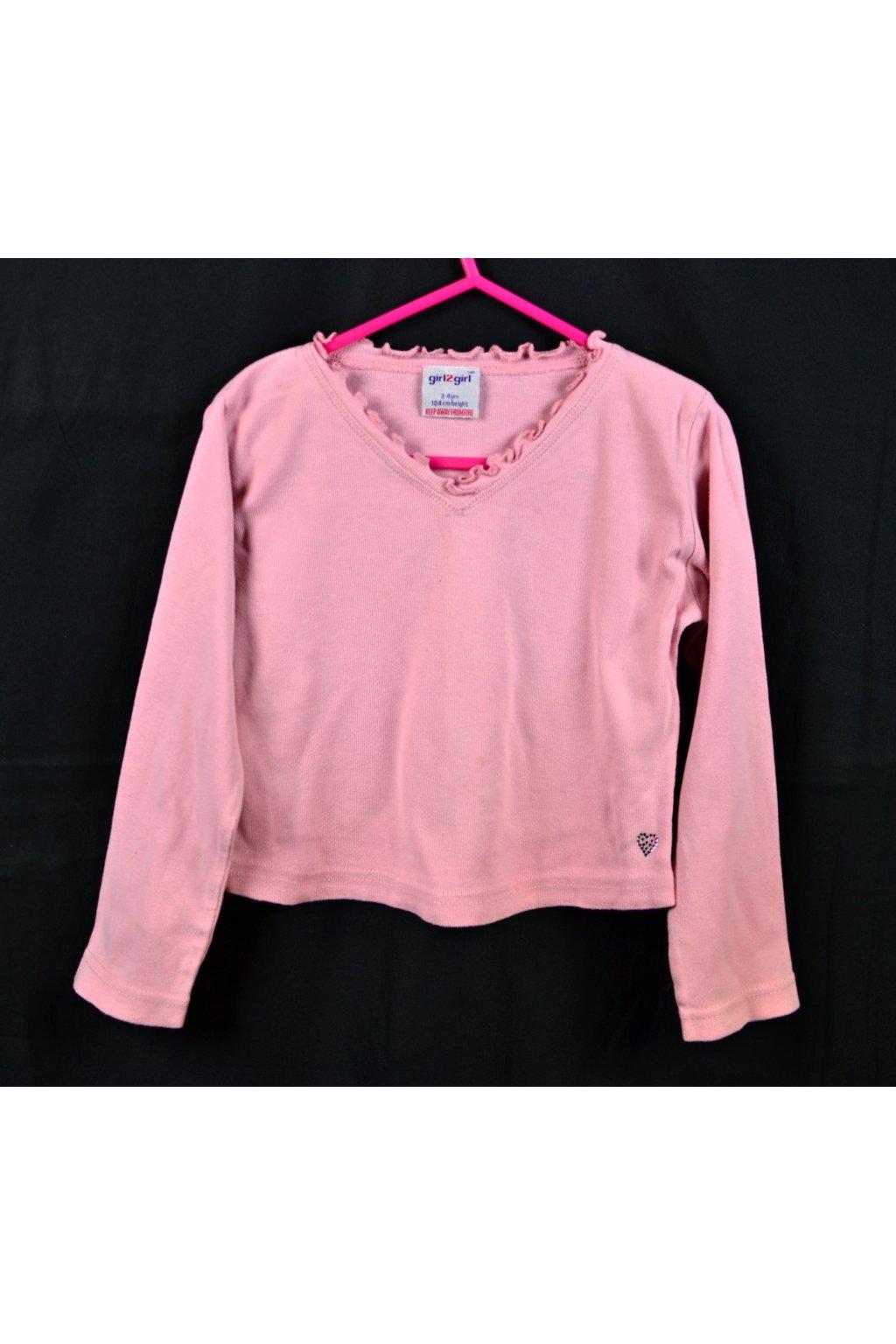 Tričko girl2girl 104 růžové