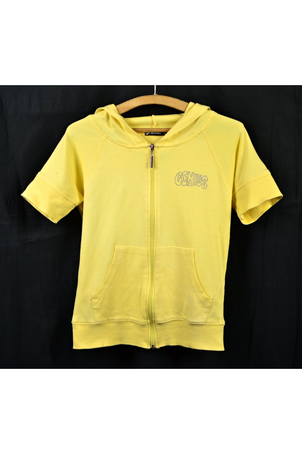 Mikina bez rukávů Graffic vel 128/134 žlutá