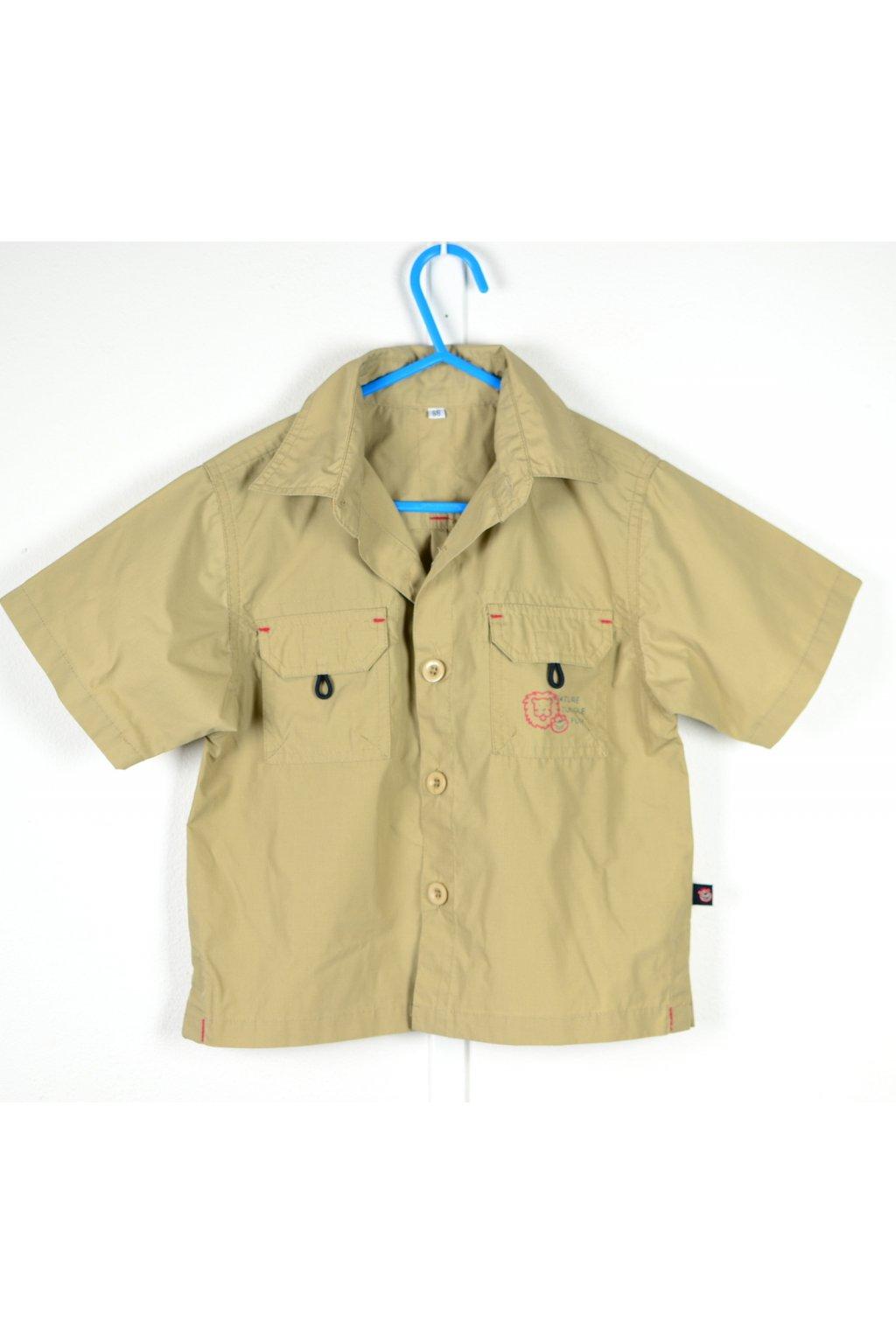 Košile styl safari vel 98 hnědá