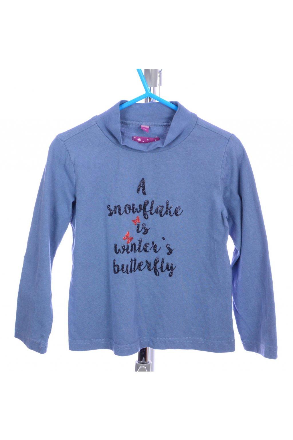 Tričko Pocopiano vel 104 modré s nápisem