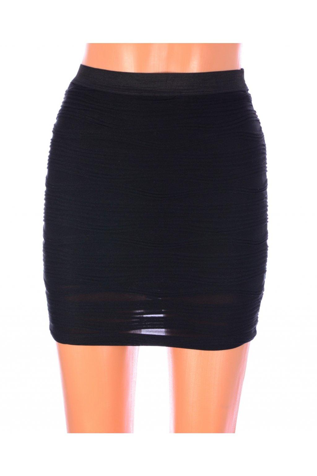 Sukně černá s plastickým vzorem Tally Weijl vel. 34 / XS