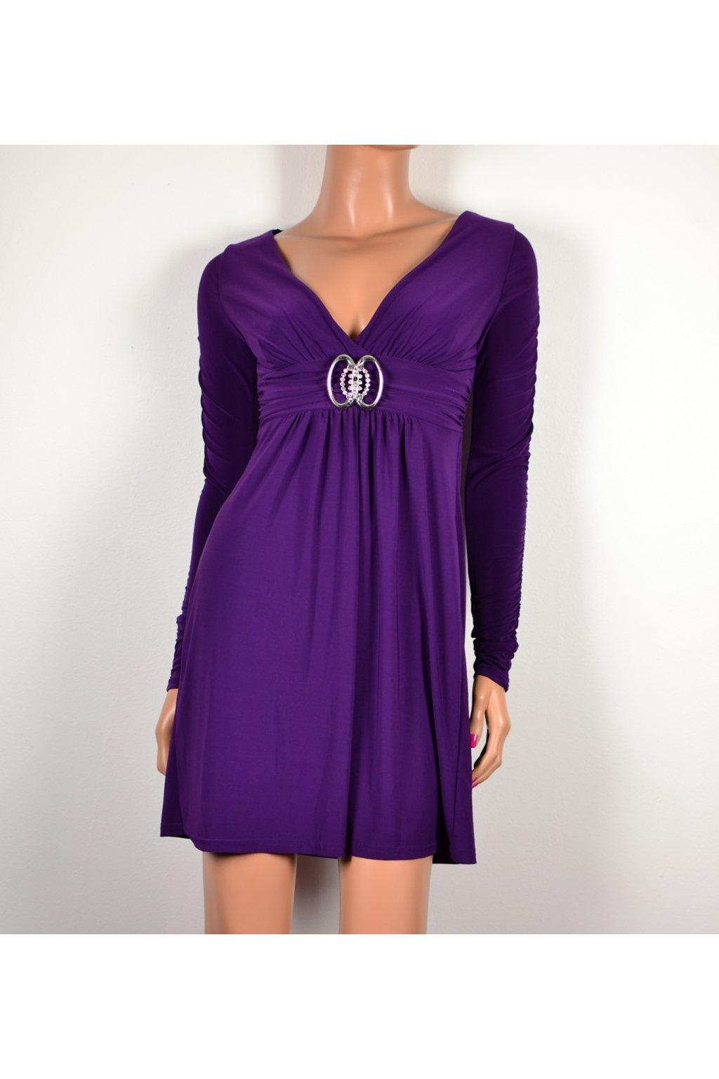 Šaty Melrose vel UK6/XS společenské fialové