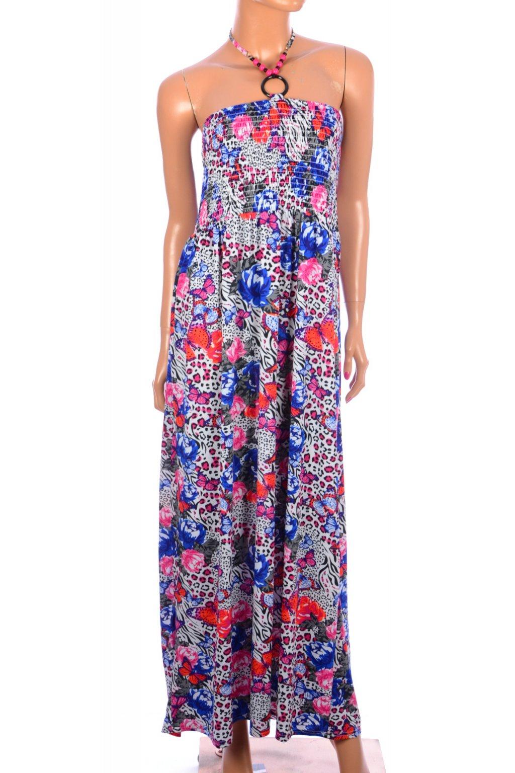 Šaty barevné dlouhé Originals vel. XL