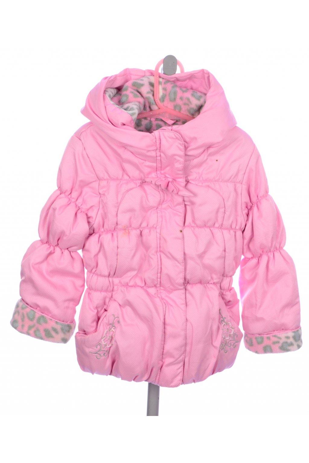 Bunda zimní 3-4/104 růžová s vyšíváním VADA
