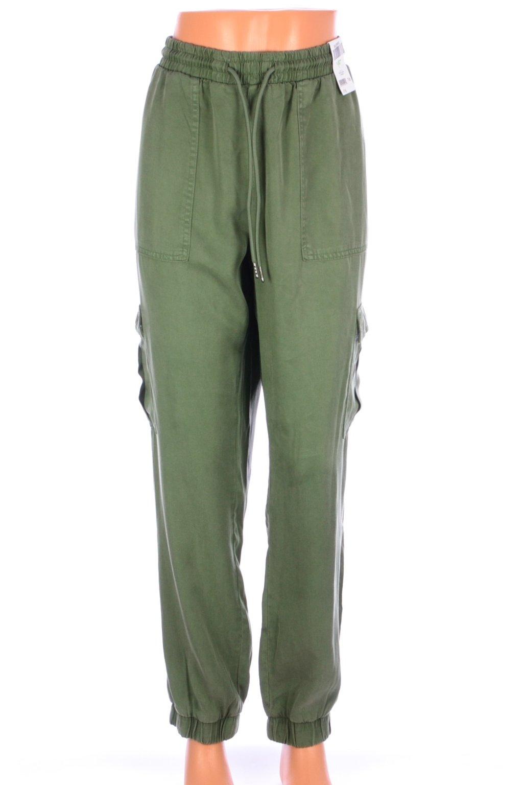 Kalhoty George NOVÉ S VISAČKOU kapsáče zelené vel. L / uk 16
