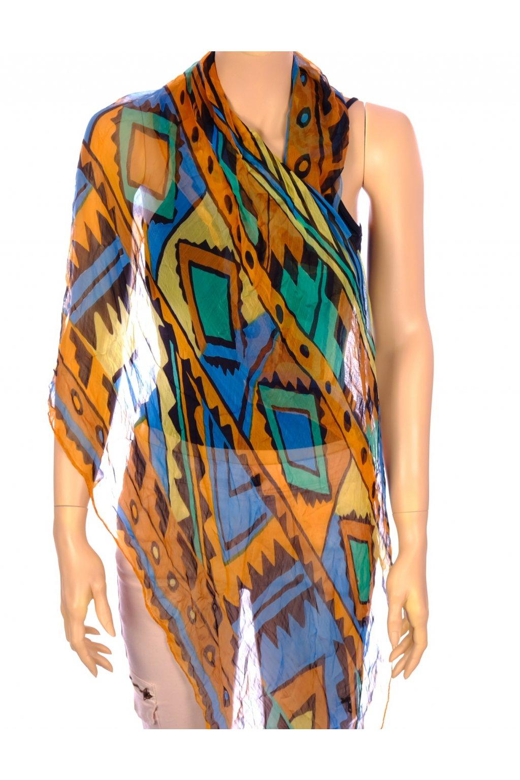 Šátek barevný indiánský vzor