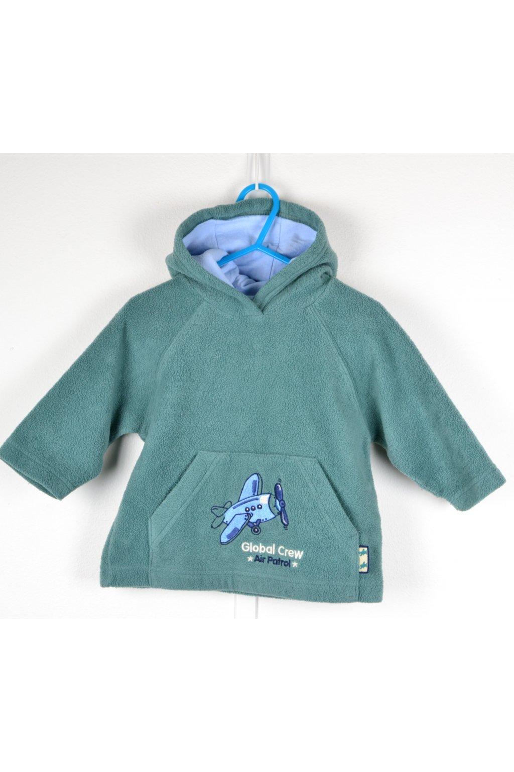 Mikina flísová BHS 80-86 zeleno - modrá